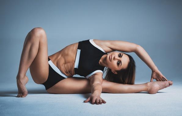 Картинка woman, pose, yoga, elongation