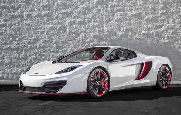 Картинка McLaren, red, white, MP4-12C