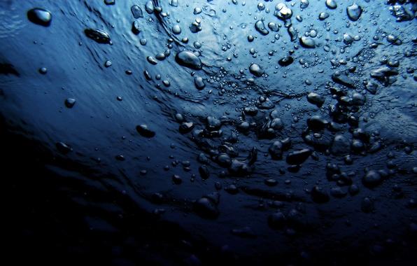 Картинка море, волны, вода, капли, синий, природа, пузыри, океан, дно, глубина, бездна