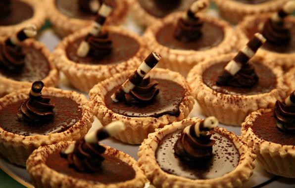 Картинка шоколад, много, десерт, пирожные
