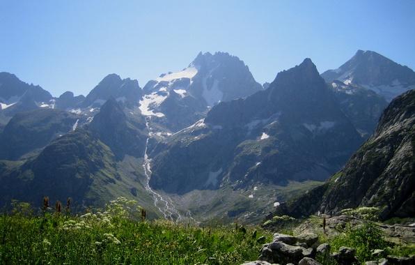 Картинка небо, горы, Кавказ