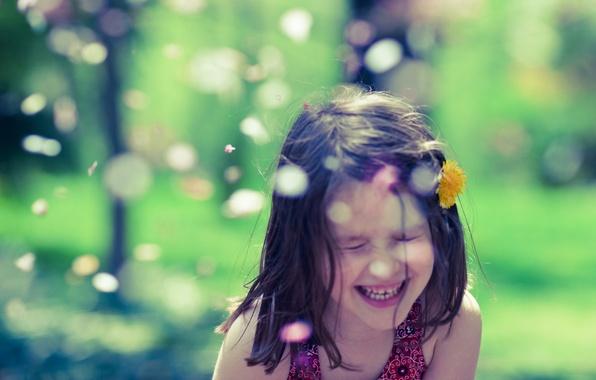 Картинка осень, глаза, взгляд, листья, дети, улыбка, жёлтый, настроение, настроения, листва, волосы, девочки, девочка, улыбки, жёлтые, …