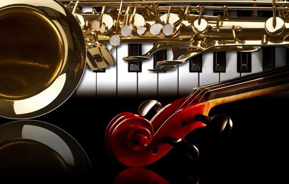 картинка на рабочий стол саксофон