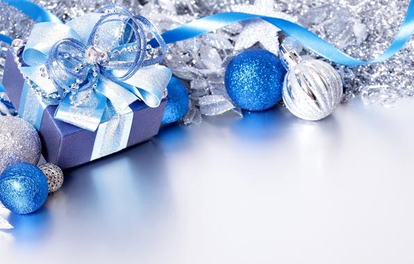 Картинка Новый Год, Шарики, Бантик, Праздники, Подарки