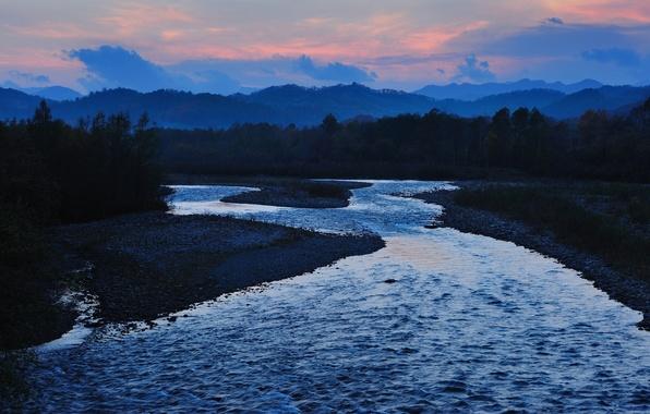 Картинка река, япония, japan, satsunaigawa river