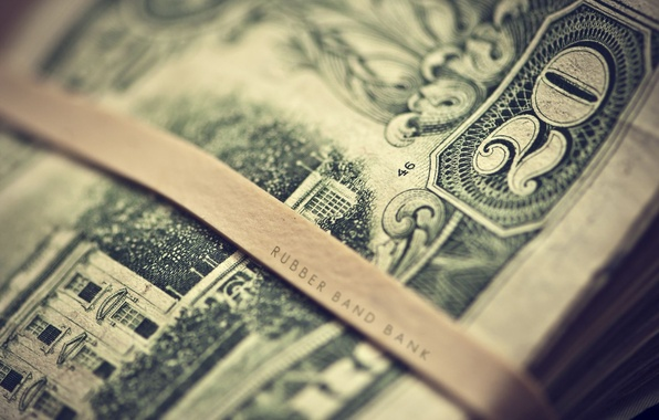 Картинка макро, надпись, деньги, размытость, цифра, доллары, купюры, dollars