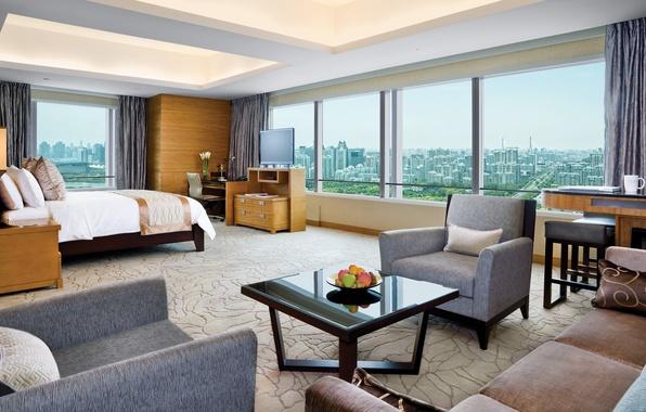 Картинка дизайн, стиль, интерьер, мегаполис, жилая комната