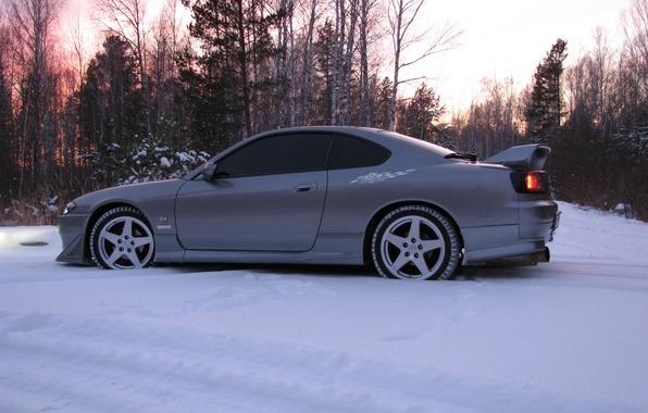 Картинка машина, лес, Silvia, Nissan