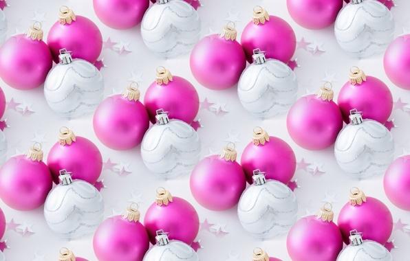 Фото обои шарики, фон, праздник, текстура, Новый год, новогодние шары