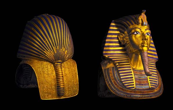Картинка фараон, Египет, Каирский музей, маска Тутанхамона