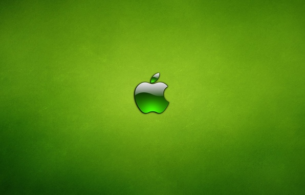 Картинка зеленый, apple, яблоко, mac, osx