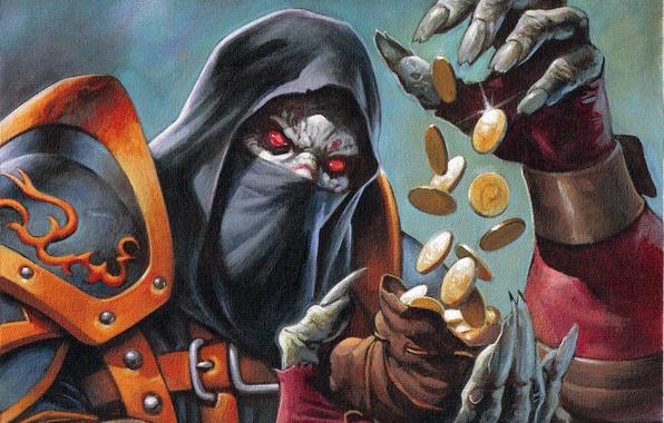 Картинка деньги, undead, wow, нежить, разбойник, world of warcraft, рог, кража, rogue, Орда, отрекшийся, андед