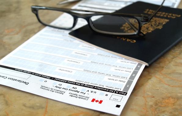 Картинка form, pen, canada flag, passport