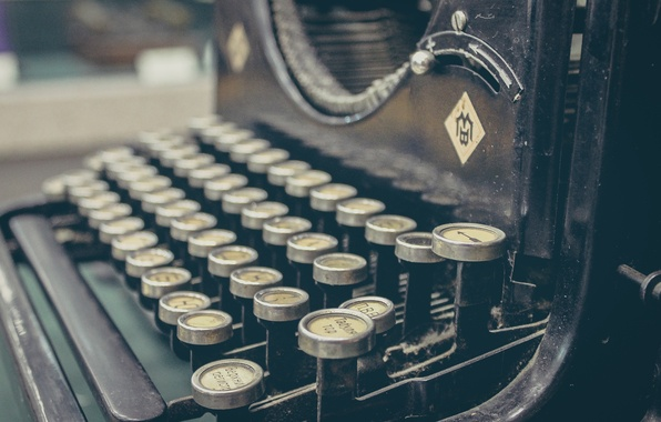 Картинка ретро, механизм, клавиши, кнопки, машинка, печатная
