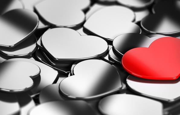 Картинка любовь, красный, фон, обои, настроения, черный, сердце, сердечки, wallpaper, love, широкоформатные, background, полноэкранные, HD wallpapers, …