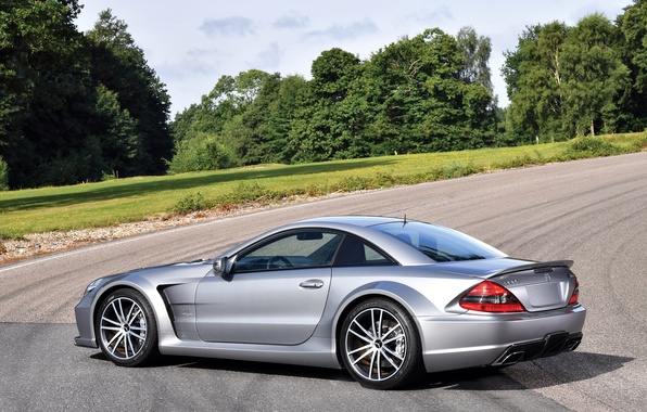Картинка car, авто, Mercedes-Benz, серебристый, wallpaper, мерс, AMG, Black Series, SL 65