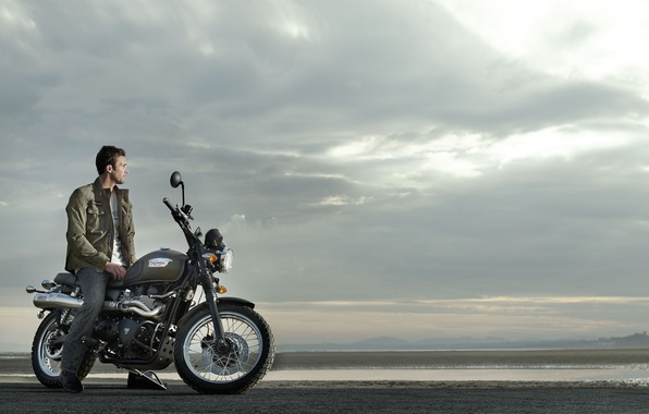 Картинка мотоцикл, Triumph, Scrambler