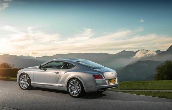 Картинка Небо, Авто, Bentley, Continental, Колеса, Машина, Серый, Бентли, Купэ