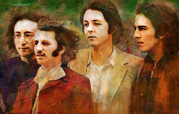 Картинка музыка, The Beatles, легенда, Джордж Харрисон, Джон Леннон, Пол Маккартни, Ринго Старр