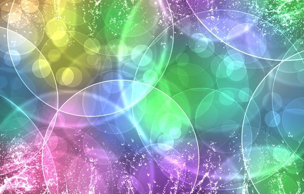 Картинка текстура, Круги, цветное