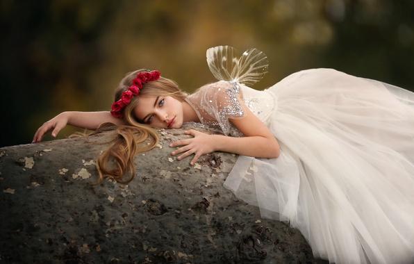 Картинка розы, платье, девочка, прелесть, венок