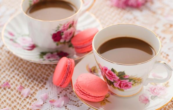 Картинка кофе, еда, печенье, сладости, крем, десерт, food, cup, сладкое, coffee, cream, dessert, macaron, макарун