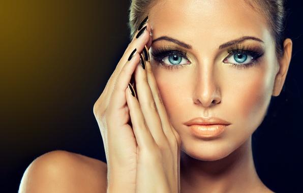 Картинка глаза, девушка, лицо, женщина, макияж, губы, girl, woman, eyes, model, lips, face, makeup