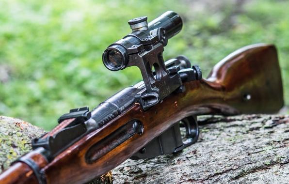 Картинка винтовка, снайперская, Мосина, M91/30, магазинная