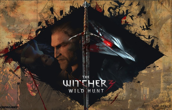 Картинка The Witcher 2, The Witcher 3, LiVE SPACE studio, The Witcher 1, CDPRODJECT red