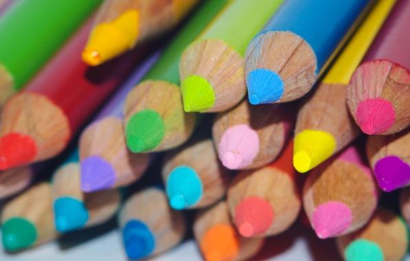 Картинка цвет, карандаши, рисование, грифель