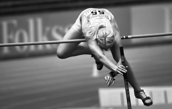 Картинка девушка, прыжок, спорт