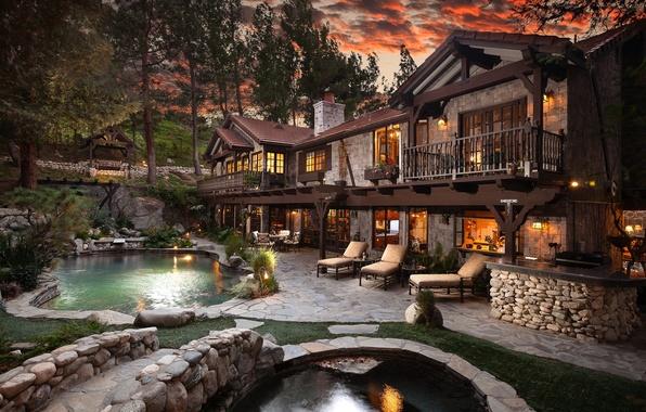 Картинка мечта, дом, бассейн