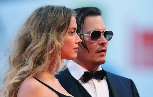 Картинка Johnny Depp, премьера, Amber Heard, Black Mass, Черная месса, Эмбер Хёрд Депп, супруги