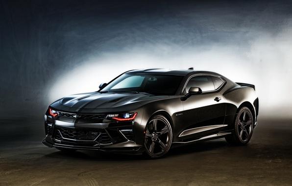 Картинка Concept, черный, Chevrolet, Camaro, шевроле, Black, камаро