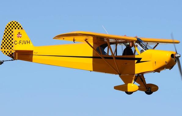 Картинка небо, полет, ретро, самолет, пилот