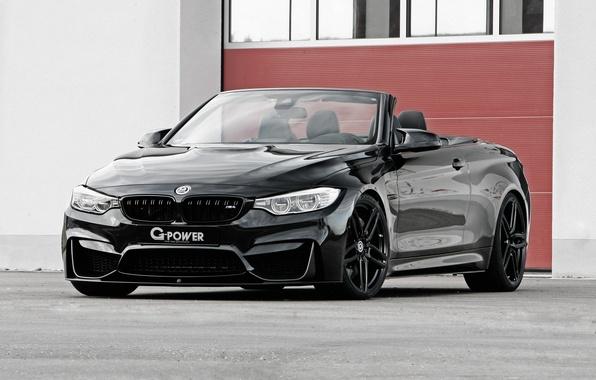 Картинка черный, бмв, BMW, кабриолет, G-Power, Black, Cabrio, F83