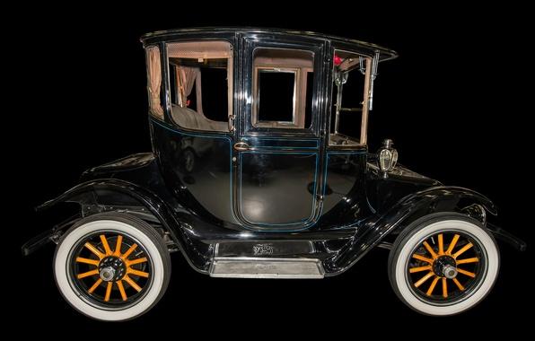 Картинка ретро, автомобиль, Detroit Electric, 1917