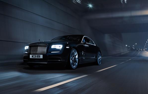 Картинка черный, Rolls-Royce, Black, Coupe, роллс-ройс, Wraith, врайт
