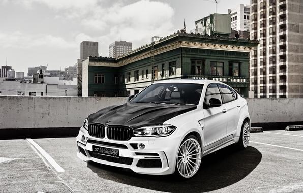 Картинка белый, бмв, BMW, Hamann, X6M, кроссовер, F16