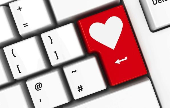 Картинка любовь, сердце, клавиатура, love, heart, keyboard