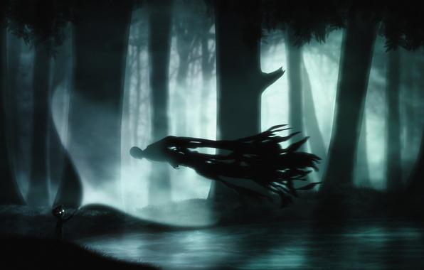 Картинка деревья, ночь, арт, вызов, Limbo, Expecto Patronum