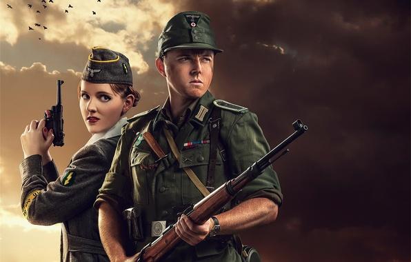 Картинка солдаты, немцы, смерть захватчикам