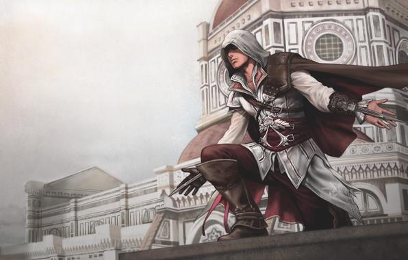Картинка флоренция, ассасин, эцио, assassins creed 2
