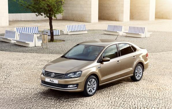 Картинка Volkswagen, седан, фольксваген, Sedan, Polo, поло, 2015, Typ 6R