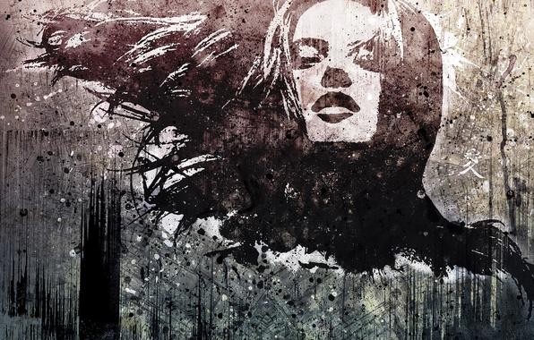 Картинка девушка, креатив, рисунок, силуэт, арт, vhm-alex