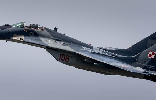Картинка небо, истребитель, самолёт, МиГ-29