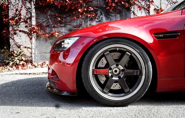 Картинка бмв, колесо, BMW, диски, передняя часть, E90