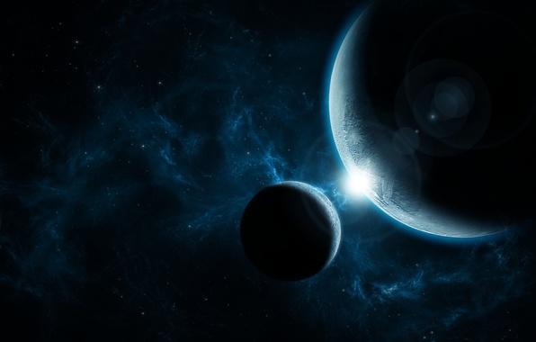 Картинка light, Star, blue, planet, nice, Sci FI