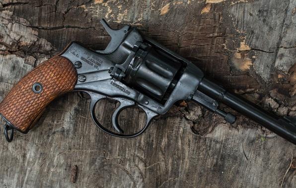 Картинка оружие, фон, револьвер, наган, 1941, Nagant