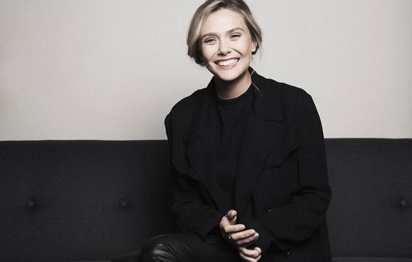 Картинка улыбка, настроение, модель, актриса, фотограф, Elizabeth Olsen, Элизабет Олсен, Francois Berthier